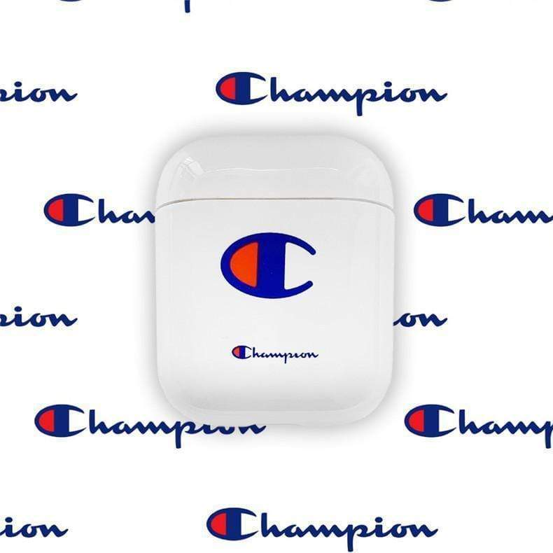 AirPods Case White Champion Style Street Fashion Classic Logo Protective AirPods 1 2 Case
