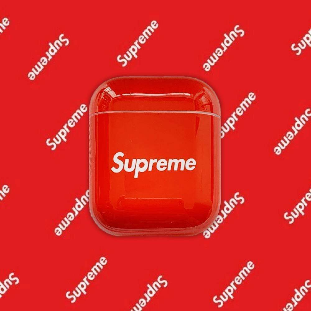 AirPods Case Red Supreme Style Classic Logo Protective Case For AirPods 1 2