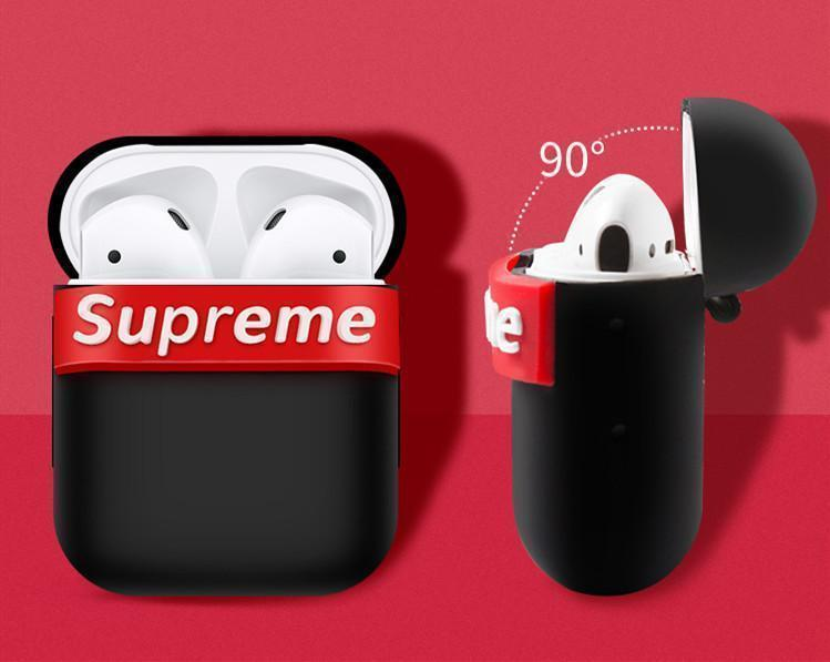 AirPods Case Supreme Style Modern Silicone Protective AirPods 1 & 2 Case