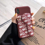 Iphone 11 Red / IPhone 11 PRO MAX Fashion Dior Style Coin Purse Genuine Leather Designer iPhone Case For Iphone 11 Pro Max X XS XS MAX XR 7 8 Plus