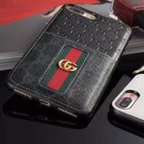 Iphone 11 10012-Black / iPhone 6/6s Gucci iPhone case Brown 11 Pro Xs Max Xr 8 Plus Leather Card