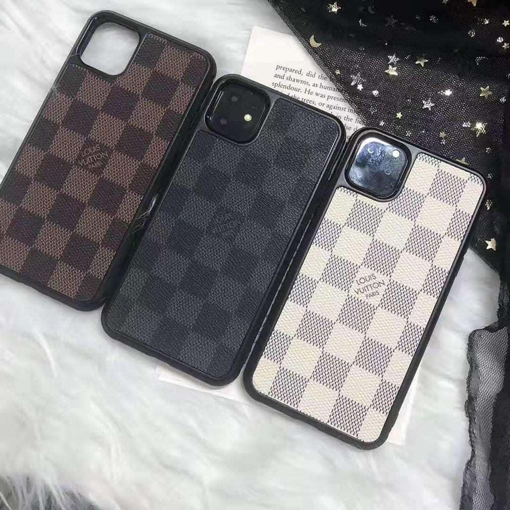 iPhone 11 Louis Vuitton Style Damier Leather Designer iPhone Case For iPhone 11 Pro Max X XS XS Max XR 7 8 Plus