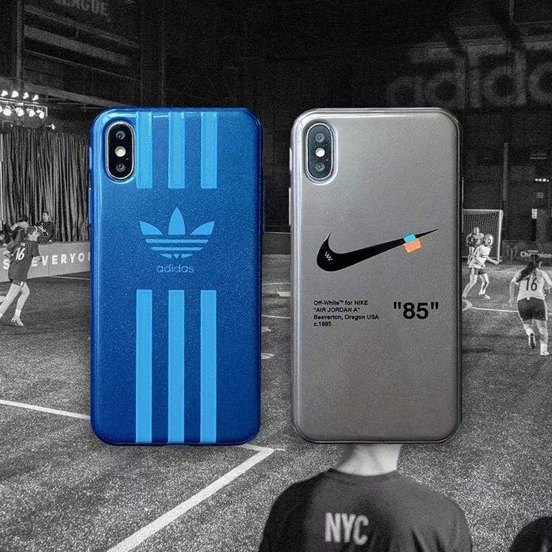 iPhone Case Adidas Nike Style Matte Silicone Designer iPhone Case For iPhone X XS XS Max XR 7 8 Plus