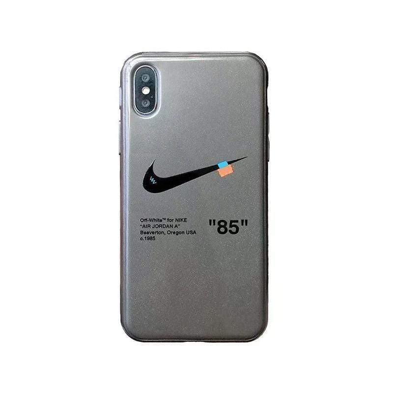 iPhone Case Nike / iPhone XS Max Adidas Nike Style Matte Silicone Designer iPhone Case For iPhone X XS XS Max XR 7 8 Plus