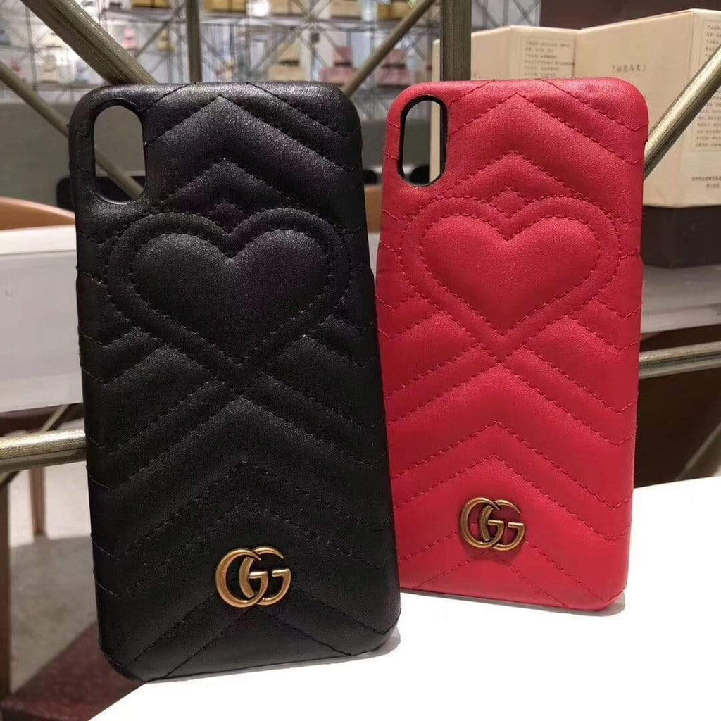 iPhone Case Gucci Style Marmont Leather Designer iPhone Case For iPhone X XS XS Max XR 7 8 Plus