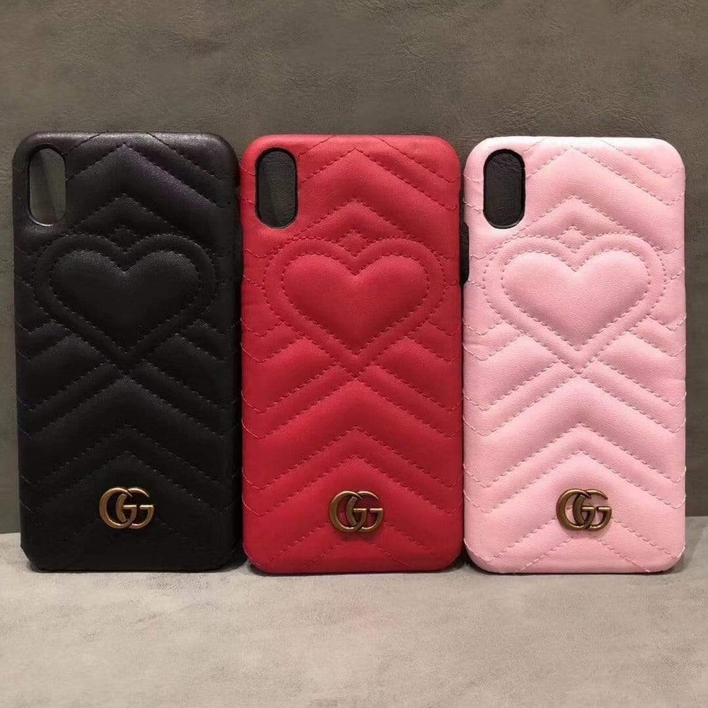 iPhone Case Black / iPhone XS Max Gucci Style Marmont Leather Designer iPhone Case For iPhone X XS XS Max XR 7 8 Plus