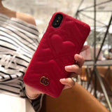 iPhone Case Red / iPhone XS Max Gucci Style Marmont Leather Designer iPhone Case For iPhone X XS XS Max XR 7 8 Plus