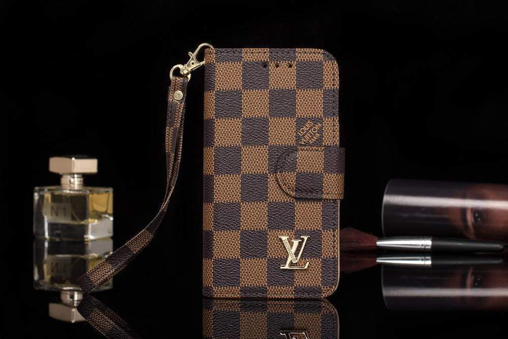 iPhone Case Brown / iPhone XS Max Louis Vuitton Style Damier Wallet Magnetic Cardholder iPhone Case For iPhone X XS XS Max XR 7 8 Plus