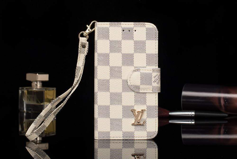 iPhone Case White / iPhone XS Max Louis Vuitton Style Damier Wallet Magnetic Cardholder iPhone Case For iPhone X XS XS Max XR 7 8 Plus