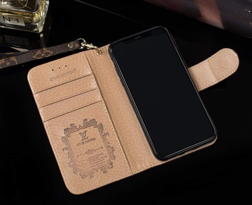 iPhone Case Louis Vuitton Style Damier Wallet Magnetic Cardholder iPhone Case For iPhone X XS XS Max XR 7 8 Plus