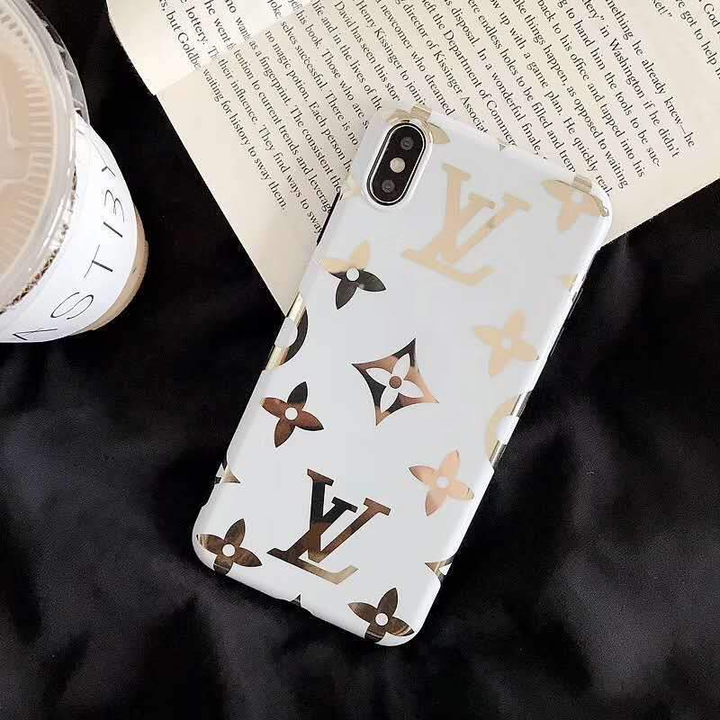 iPhone Case Big Logo Black / iPhone XS Max Louis Vuitton Style Monogram Electroplating Glossy TPU Silicone Designer iPhone Case For iPhone X XS XS Max XR 7 8 Plus