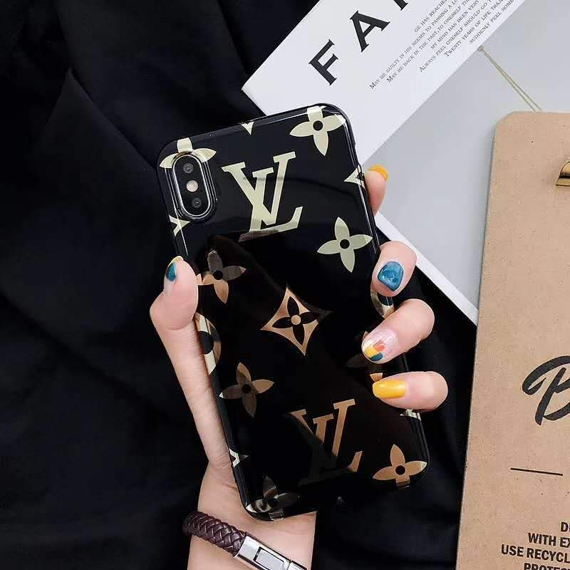 iPhone Case Louis Vuitton Style Monogram Electroplating Glossy TPU Silicone Designer iPhone Case For iPhone X XS XS Max XR 7 8 Plus