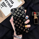 iPhone Case Small Logo Black / iPhone XS Max Louis Vuitton Style Monogram Electroplating Glossy TPU Silicone Designer iPhone Case For iPhone X XS XS Max XR 7 8 Plus