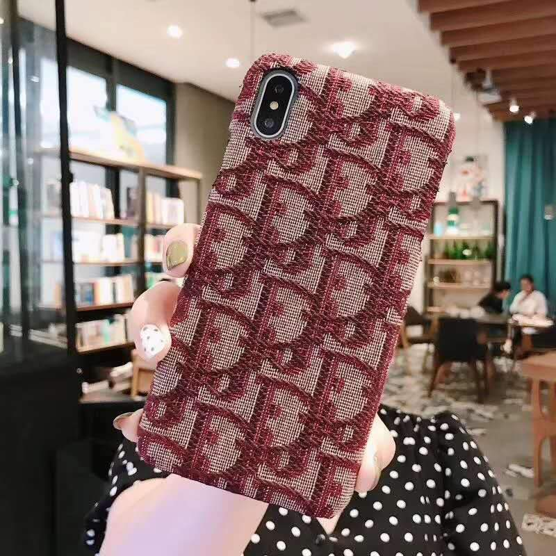 iPhone Case Red / iPhone XS Max MORE COLORS Dior Style Classic Fabric Silicone Designer iPhone Case For iPhone X XS XS Max XR 7 8 Plus