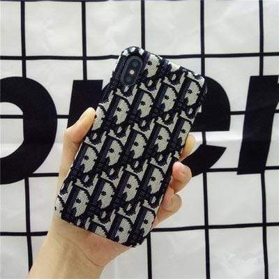 iPhone Case Black / iPhone XS Max MORE COLORS Dior Style Classic Fabric Silicone Designer iPhone Case For iPhone X XS XS Max XR 7 8 Plus