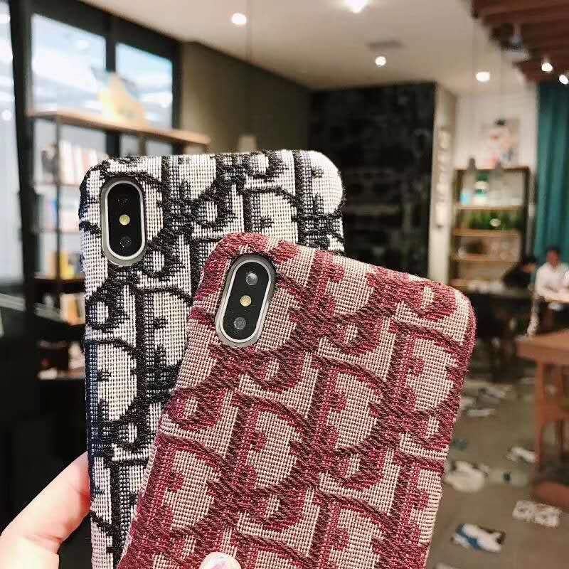 iPhone Case MORE COLORS Dior Style Classic Fabric Silicone Designer iPhone Case For iPhone X XS XS Max XR 7 8 Plus