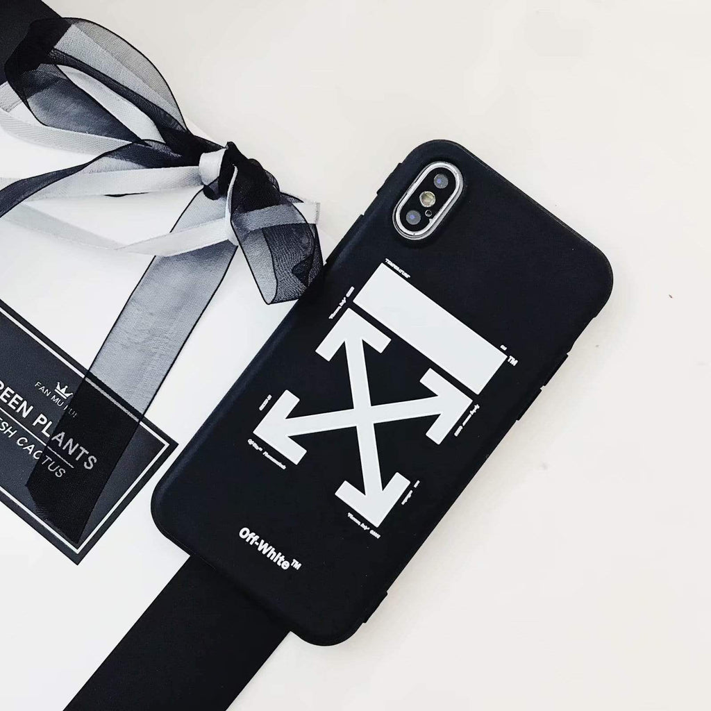 iPhone Case OFF WHITE Style Black Classic Silicone Designer iPhone Case For iPhone X XS XS Max XR 7 8 Plus