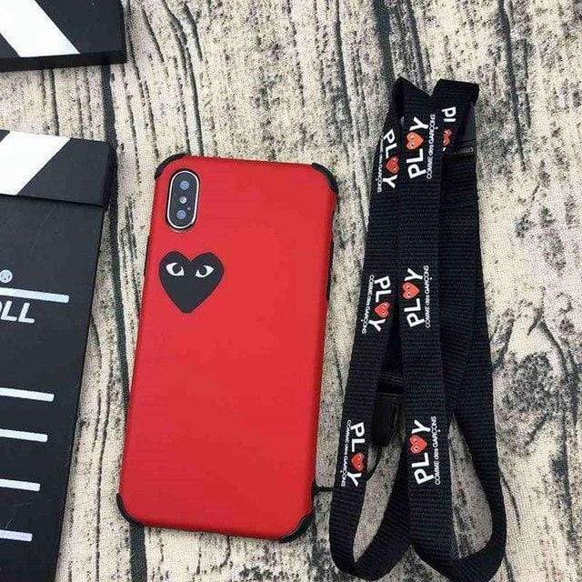 iPhone Case Red / iphone 6/6S PLAY CDG Comme des Garcons Style Heart Matte Silicone iPhone Case