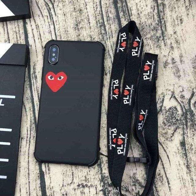 iPhone Case Black / iphone 6/6S PLAY CDG Comme des Garcons Style Heart Matte Silicone iPhone Case