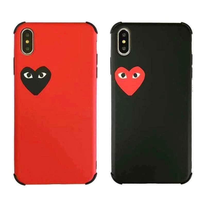 iPhone Case PLAY CDG Comme des Garcons Style Heart Matte Silicone iPhone Case
