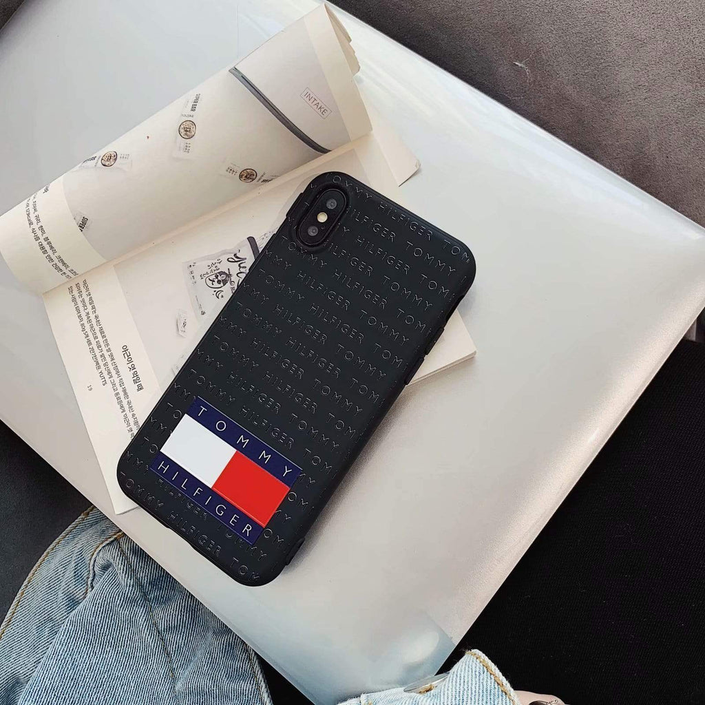 iPhone Case Black / iPhone XS Max Tommy Hilfiger Style Silicone Designer iPhone Case For iPhone X XS XS Max XR 7 8 Plus