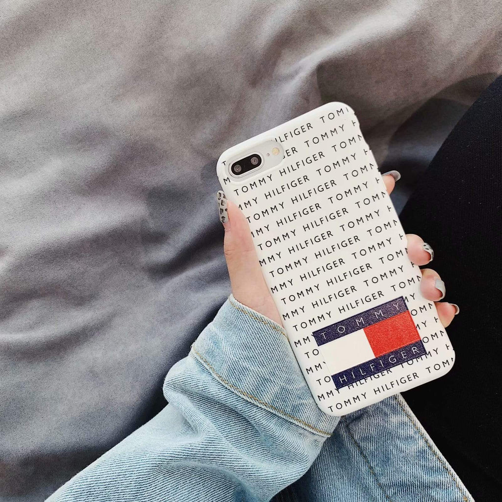 iPhone Case White / iPhone XS Max Tommy Hilfiger Style Silicone Designer iPhone Case For iPhone X XS XS Max XR 7 8 Plus