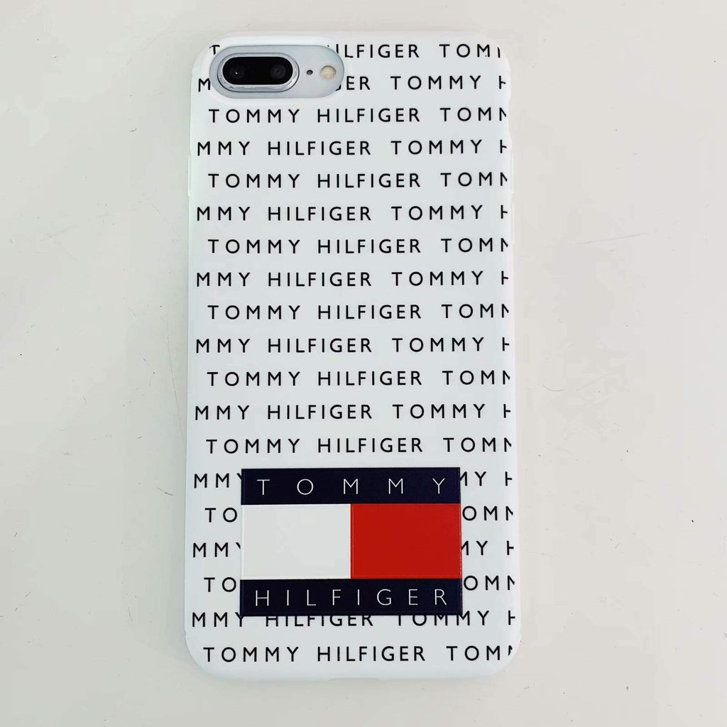 iPhone Case Tommy Hilfiger Style Silicone Designer iPhone Case For iPhone X XS XS Max XR 7 8 Plus