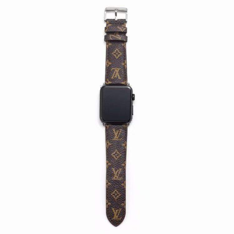 Watch Bands Louis Vuitton Style Monogram Leather Watch Band Strap Series 4/3/2/1