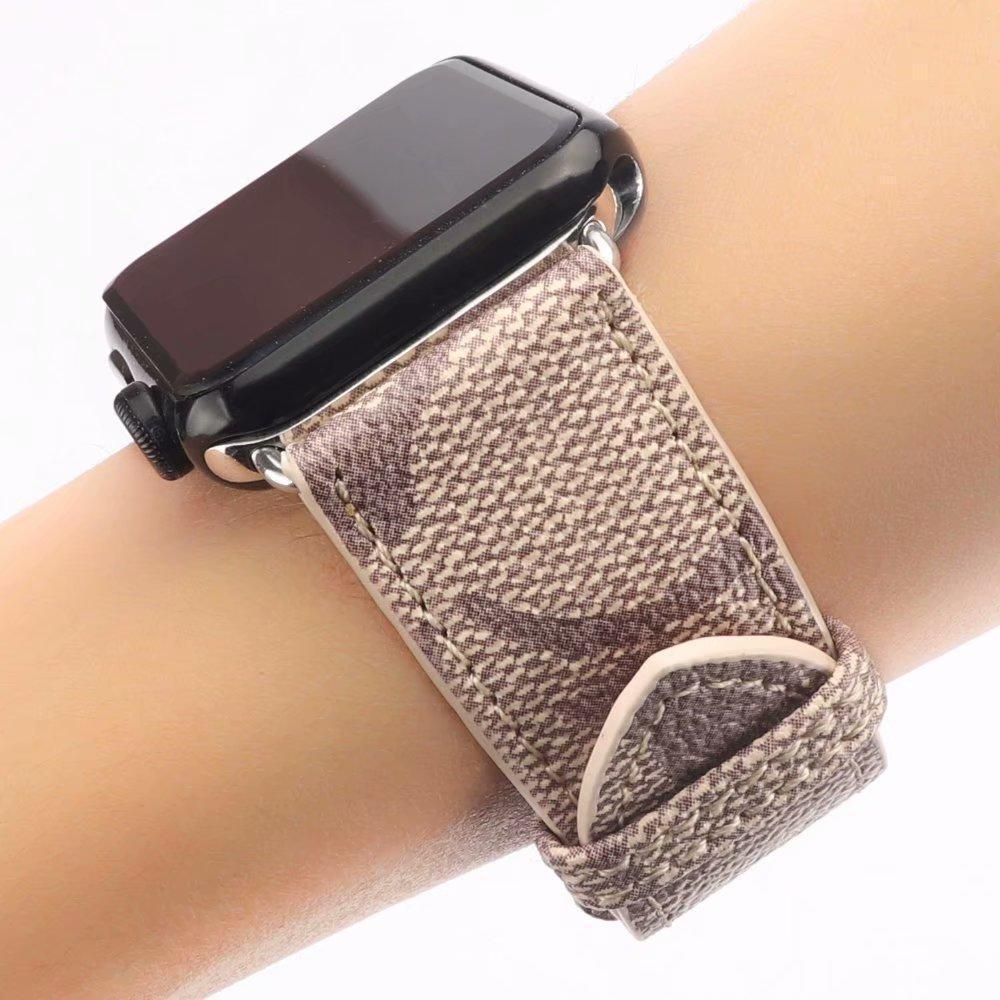 Watch Bands MORE COLORS Coach Style Leather Compatible With Apple Watch 38mm 40mm 42mm 44mm Band Strap For iWatch Series 4/3/2/1