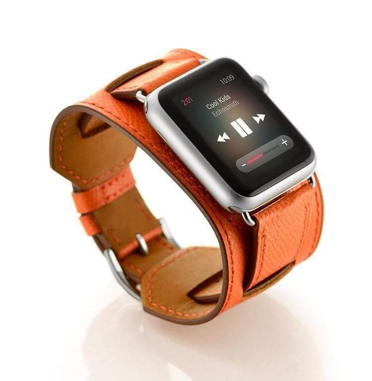 Watch Bands MORE COLORS Genuine Leather Durable Compatible With Apple Watch iWatch 38mm 40mm 42mm 44mm Band Strap For iWatch Series 4/3/2/1