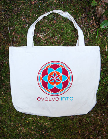 Evolve Into - Organic Canvas Tote