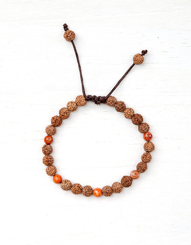 Evolve Into Action Mala Bracelet