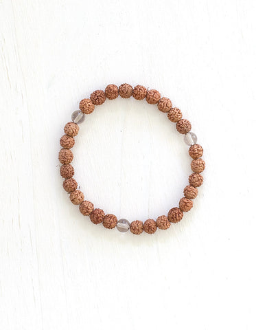Evolve Into Clarity Mala Bracelet