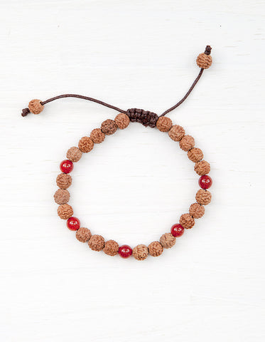 Evolve Into Happiness Mala Bracelet