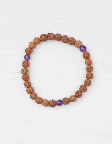 Evolve Into Peace Mala Bracelet