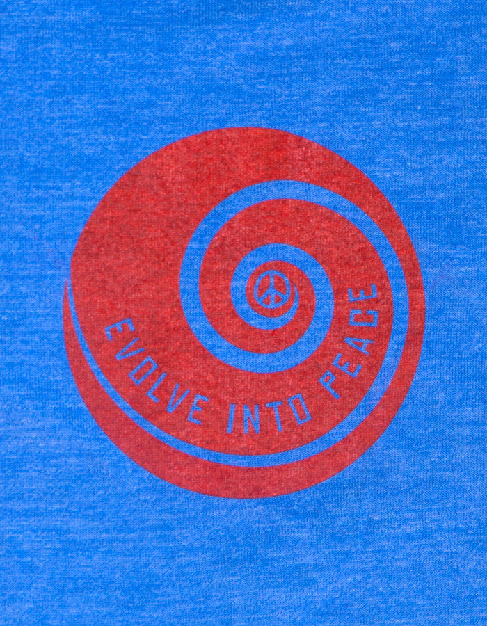 Evolve Into Peace Spiral - Crew Tee