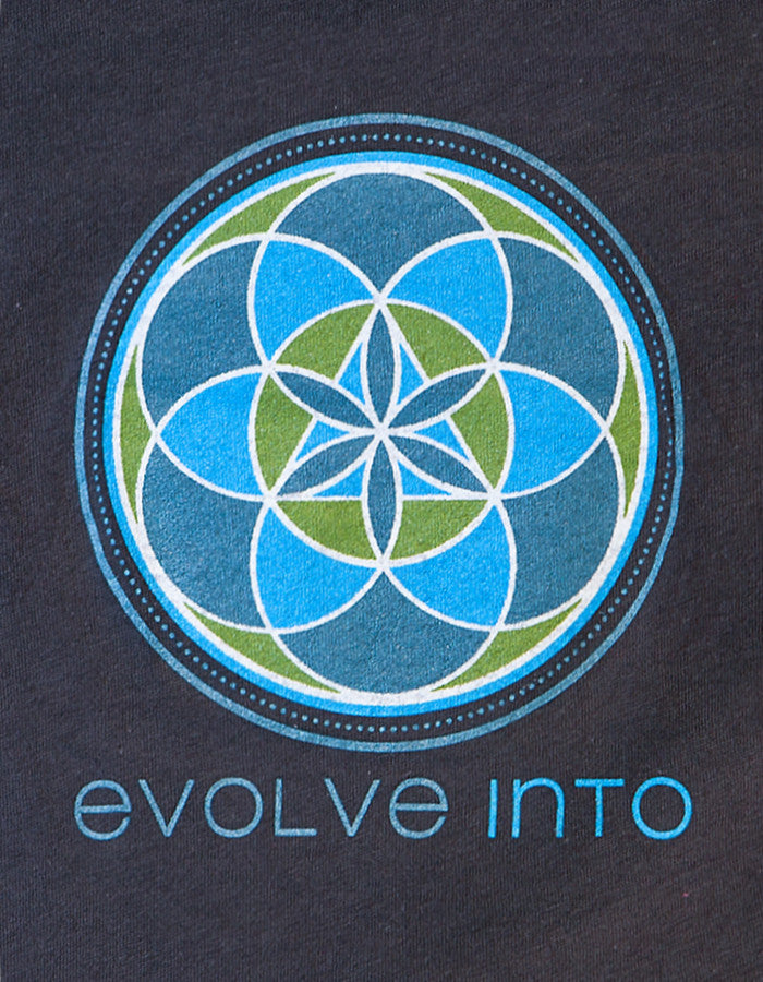 Evolve Into - Coal Organic Scoop Tee