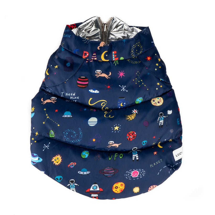 Lucy & Co. Space Doodle Reversible Puffer Vest