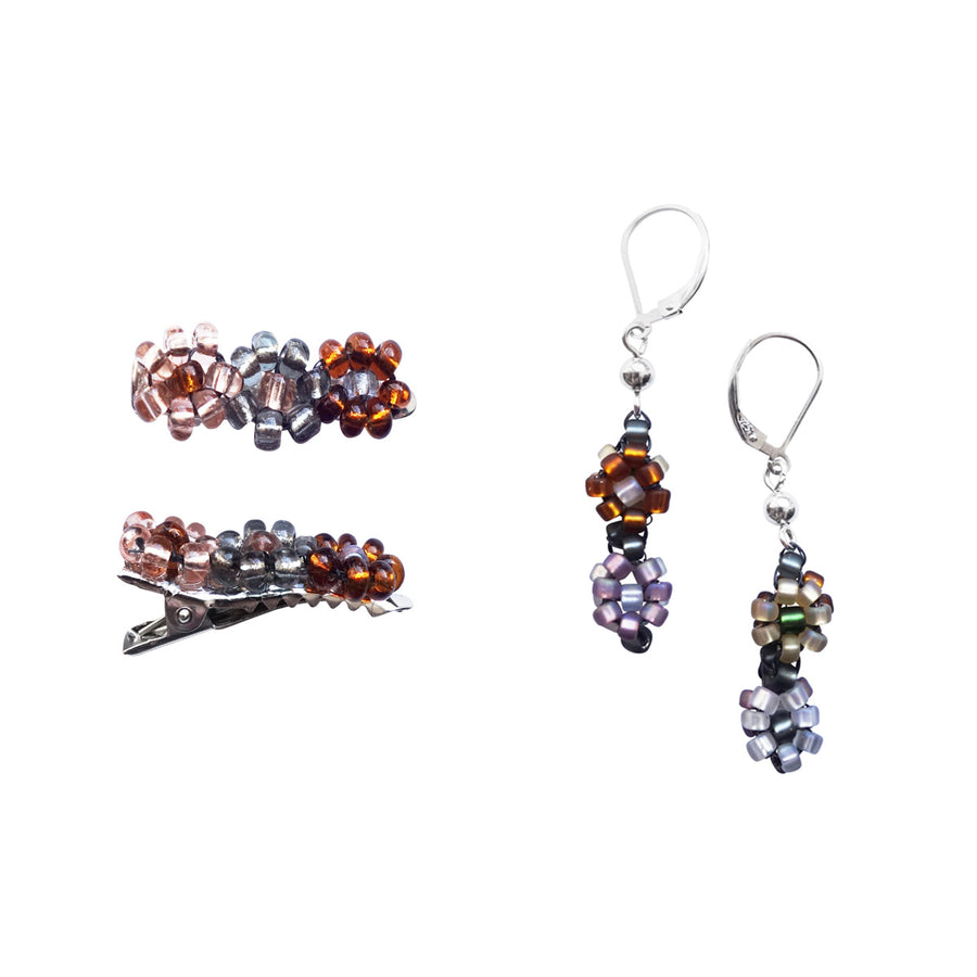 POMS Earrings + Hair Accessories Bundle