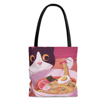 Kitten Eating Soup Tote Bag