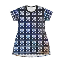Abstract Squares T-Shirt Dress