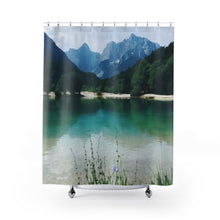 Green Lake Shower Curtains