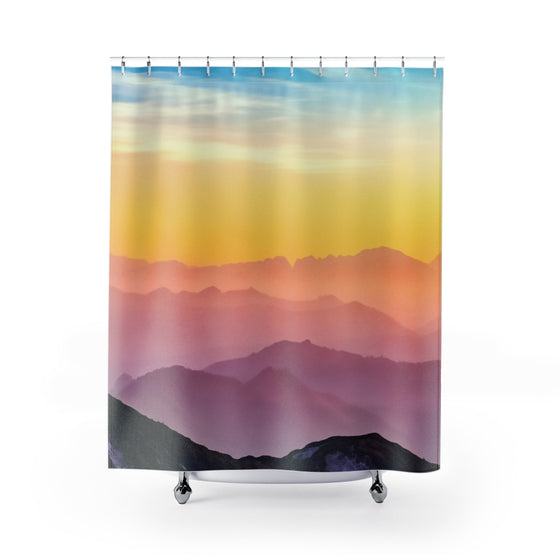 Pink Toned Thoughts Shower Curtains