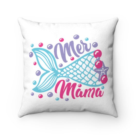 Mermaid Mama/Faux Suede Square Pillow Case