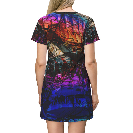 Abstract T-Shirt Dress