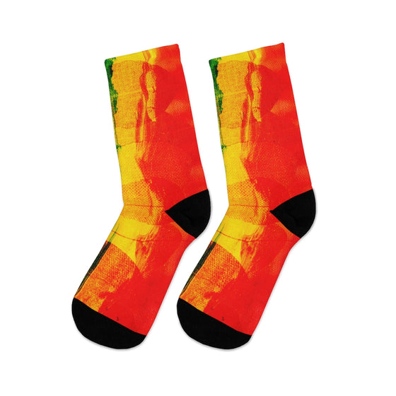 Rainbow Abstract Socks