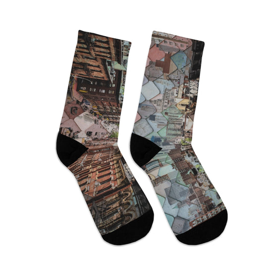 City Abstract Socks