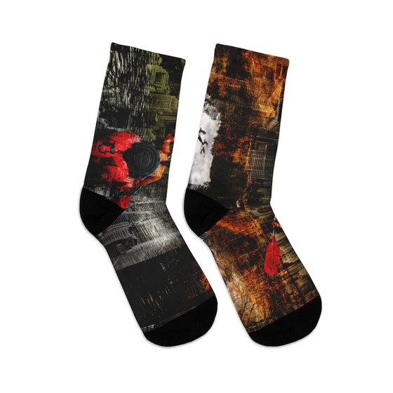 Mirror Abstract Socks