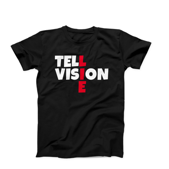 Tell-Lie-Vision Creative Men's Unisex T-Shirt