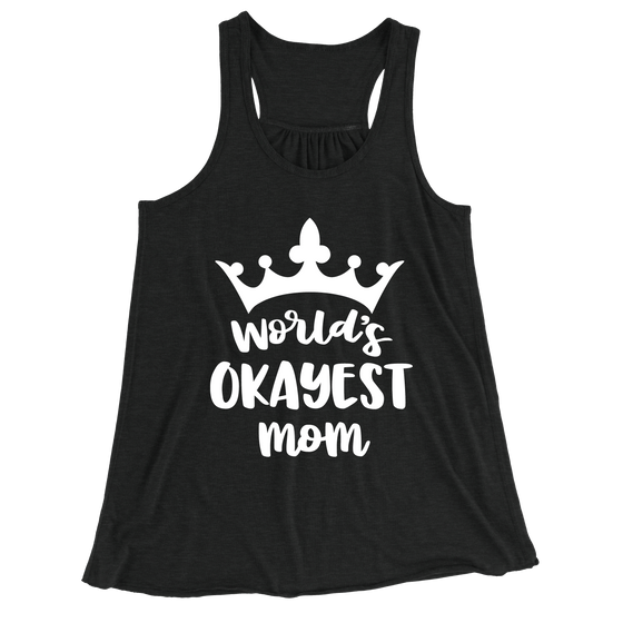 World's Greatest Mom/Women's Flowy Racerback Tank